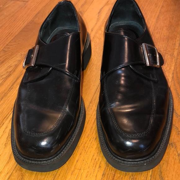 Claybrooke Shoes Mens Black Dress W Gold Buckle Poshmark